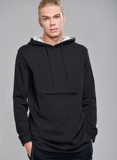People By Fabrika Kapüşonlu Sweatshirt Siyah
